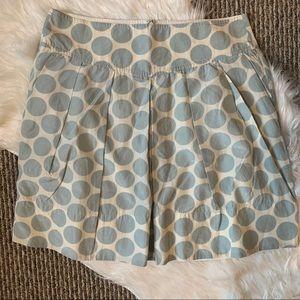 Banana Republic Blue Polka Dot Silk Skirt